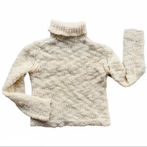 FENDI Cable Knit Vintage Big Yarn Wool Sweater